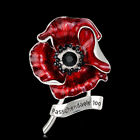 Luxury Enamel Black Crystal Rose Poppy Brooch Pin Banquet Badge Remembrance GIFT