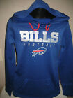 NFL Buffalo Bills Football Dri Fit Hoody Sweatshirt Womens Sizes Majestic Nwt