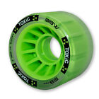 common skate - Mota Skates - Green Toxic Hybrid Grip 88a / roll 93a derby wheels ( set of 4 )