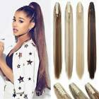 Straight Claw Jaw Clip Ponytail on one Hair piece 100% Human Remy Hair Extension