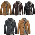 Men's Vintage Leather Jacket Retro Slim fit Motorcycle Waterproof Casual Coat