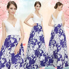 Floral Printed Homecoming Prom Dresses Maxi Evening Ball Gown 08389 Ever-Pretty