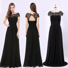 Women's Black Mermaid Formal Evening Party Dress Pageant Prom 08866 Ever-Pretty