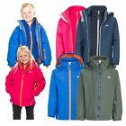 Trespass Rockcliff 3in1 Kids Waterproof School Jacket Boys Girls Hooded Raincoat