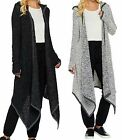 Peace Love World~Sweater Knit Maxi Cardigan with Pockets~A285615