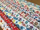 polycotton fabric cats, dogs, sausage dogs, butterfly,whales,owl, nautical