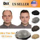 GEX NG Mens HairPiece Toupee Ultra Thin Skin PU Human Hair Replacement System