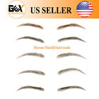 GEX False Eyebrow Makeup Extensions 100% Natural Human Hair Handmade FakeEyebrow