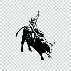 Bull Rider Cowboy Vinyl Decal Sticker Rodeo Bull Riding Windshield Car