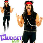 Glam Rocker Mens Fancy Dress 1980s Punk Rock Star Celebrity Icon Adults Costume