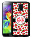 MONOGRAMMED RUBBER CASE FOR SAMSUNG NOTE 5 4 3 WATERMELONS