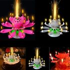 lotus flower pink - Musical Lotus Romantic Flower Rotating Birthday Party Gift Candle Light US