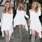 Us Summer Women Boho Long Evening Party Cocktail Casual Beach Dress Long Sleeve