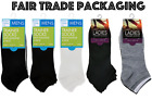 Mens Womens Trainer Ankle Socks Black White Cotton Rich Sport Liner 3 6 12 Pairs