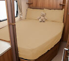 Lunar Champ H591 (2005) Motorhome Fitted Sheet - Ivory, White, Walnut Whip