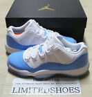 NIKE AIR JORDAN XI 11 RETRO LOW BG GS UNC COLUMBIA UNIVERSITY BLUE 528996-106