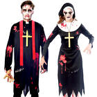 Zombie Religious Sinners Adults Fancy Dress Undead Gory Catholic Saint Costumes