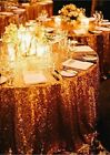 """5 pack 120"""" Round Sequin Sparkly Design Shiny Tablecloth Table Cover 4 COLORS"""