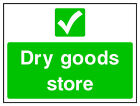 Dry goods store sign HSE Health Safety FOO79 30cm x 40cm Sign or Sticker