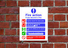 Fire Action HSE sign Health & Safety FA15 25cm x 30cm sign or sticker
