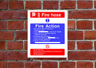 Fire Action / Hose HSE sign Health & Safety FA05 25cm x 30cm sign or sticker