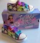 SKETCHERS TWINKLE TOES LIGHT UP GIRLS TRAINERS MULTI SIZES UK 10 + UK 1