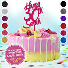 Happy Birthday Cake Topper ANY AGE ANY NAME PERSONALISED Cake Decoration Topper