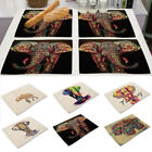 New Insulation Kitchen Dining Table Mats Animal Pattern Tableware Placemats
