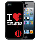 MONOGRAMMED RUBBER CASE FOR iPHONE 7 6S 6 SE 5 5S 5C PLUS I LOVE ZOMBIES