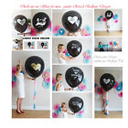 New Gender Reveal Black Balloon It's a Girl Boy Butterfly Confetti xl Baby