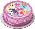 **Precut** Icing My Little Pony Personalised 15cm Cake Topper & 17 Extra Toppers