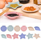 Creative Leaf Shape Eco-friendly Wheat Straw Snack Plate Seasoning Sauce Dish