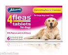 JOHNSONS 4 FLEAS TABLETS KILLS FLEAS TREATMENT FOR DOGS CATS PUPPIES & KITTENS