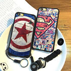 CAPTAIN AMERICA SUPERMAN TPU SOFT BACK CASE COVER FOR APPLE IPHONE 5 6 6S 7 PLUS