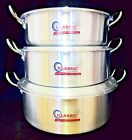 Klassic Flat Wok / Karahi Aluminium Cooking Pot/Pan 3 sizes 32cm ,34cm & 36cm