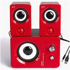 Laptop PC Desktop STEREO COMPUTER SPEAKERS System USB Powered Power 2.1 Bass Sub