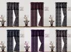 5PC SET PRINTED WINDOW COVERING CURTAINS ROD POCKET PANELS VALANCE DRAPES R1