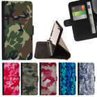 ARMY CAMO CAMOUFLAGE PATTERN WALLET CASE COVER FOR SAMSUNG GALAXY S7