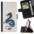 DRAGON CHINESE ART TATTOO WALLET CASE COVER FOR APPLE IPHONE 7 PLUS