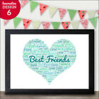Best Friend Personalised BFF Friendship Gifts - Birthday Christmas Friends Gifts