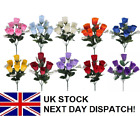 Artificial Rose Rosebud Bouquet Bush 7 HEAD Assorted Wedding Floral Flower 33cm