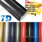 7D Premium Super Gloss Carbon Fiber Vinyl Film Wrap Bubble Free Air Release 6D