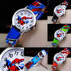 Spiderman Leather Wrist Watch Boy Girl Women Teens Kids Cartoon Watches