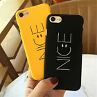 Cute NICE Smile Face Matte Hard Ultra Thin Case Cover For iPhone 5s SE 6s 7 Plus