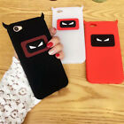 For iPhone Sumsang Case Cover 3D Cute Demon Cartoon Animals Soft Silicone Back