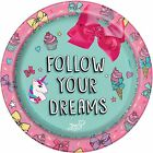 JoJo Siwa Bow Party Supplies Cute Birthday Paper Plates Napkins Plastic Table CS