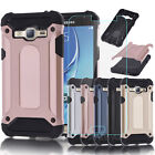 Hybrid Case Cover Rugged Armor + Glass Film For Samsung Galaxy J3 Express Prime