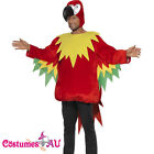 Adult Polly the Parrot Costume Bird Fancy Dress Funny Mens Red Mascot Zoo Party