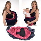 Baby Infant Newborn Adjustable Carrier Sling Wrap Rider Backpack Pouch Ring care