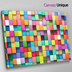 AB1372 pink yellow blocks design Abstract Wall Art Picture Large Canvas Print